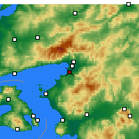 Nearby Forecast Locations - Burhaniye - Map