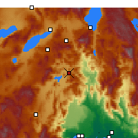 Nearby Forecast Locations - Bucak - Map