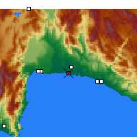 Nearby Forecast Locations - Belek - Map