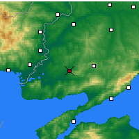 Nearby Forecast Locations - Keşan - Map