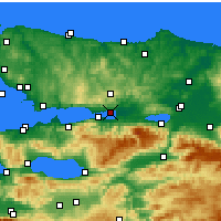 Nearby Forecast Locations - İzmit - Map
