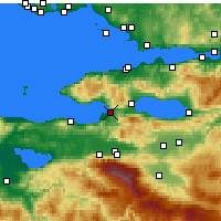 Nearby Forecast Locations - Gemlik - Map