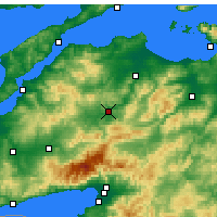 Nearby Forecast Locations - Çan - Map