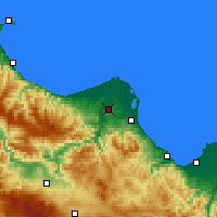 Nearby Forecast Locations - Bafra - Map