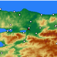 Nearby Forecast Locations - Sakarya - Map