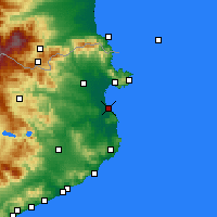 Nearby Forecast Locations - L'Escala - Map
