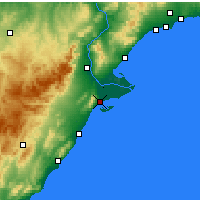 Nearby Forecast Locations - Sant Carles de la Ràpita - Map