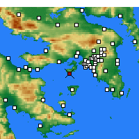 Nearby Forecast Locations - Peristeria - Map