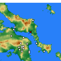 Nearby Forecast Locations - Aliveri - Map