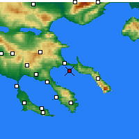 Nearby Forecast Locations - Ammouliani - Map