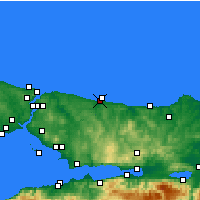 Nearby Forecast Locations - Hacikasim - Map