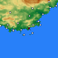 Nearby Forecast Locations - Le Lavandou - Map