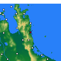 Nearby Forecast Locations - Whangamata - Map