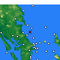 Nearby Forecast Locations - Sail Rock - Map
