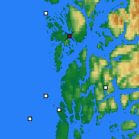 Nearby Forecast Locations - Leirvik - Map