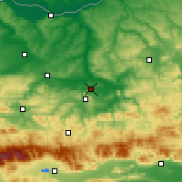 Nearby Forecast Locations - Gorna Oryahovitsa - Map