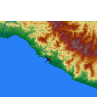 Nearby Forecast Locations - Ixtapa - Map