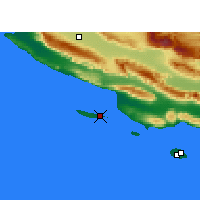 Nearby Forecast Locations - Lavan Island - Map