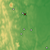 Nearby Forecast Locations - Nizhnyaya Tura - Map