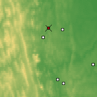 Nearby Forecast Locations - Verkhnyaya Tura - Map