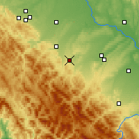 Nearby Forecast Locations - Dolyna - Map