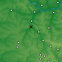 Nearby Forecast Locations - Druzhkivka - Map