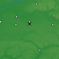 Nearby Forecast Locations - Hlukhiv - Map