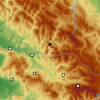 Nearby Forecast Locations - Rakhiv - Map