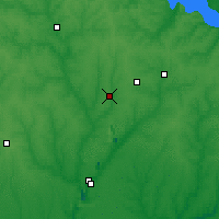 Nearby Forecast Locations - Zhovti Vody - Map