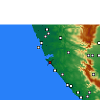 Nearby Forecast Locations - Kollam - Map