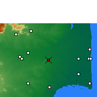 Nearby Forecast Locations - Thanjavur - Map