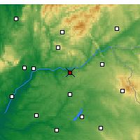Nearby Forecast Locations - Tomar - Map