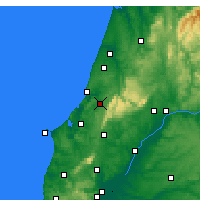Nearby Forecast Locations - Alcobaça - Map