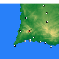 Nearby Forecast Locations - Monchique - Map