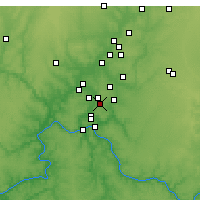 Nearby Forecast Locations - Blue Ash - Map