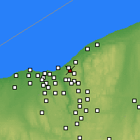 Nearby Forecast Locations - Cleveland Heights - Map