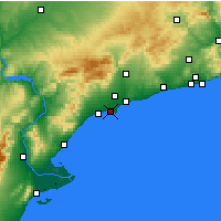 Nearby Forecast Locations - Salou - Map