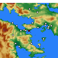 Nearby Forecast Locations - Agioi Theodoroi - Map