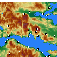 Nearby Forecast Locations - Amfissa - Map