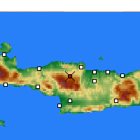 Nearby Forecast Locations - Anogeia - Map