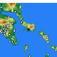 Nearby Forecast Locations - Karystos - Map