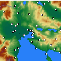 Nearby Forecast Locations - Menemeni - Map