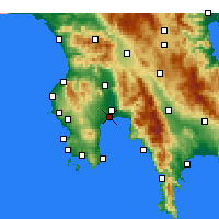 Nearby Forecast Locations - Messene - Map