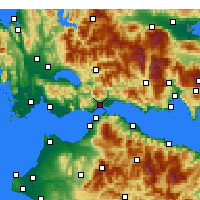Nearby Forecast Locations - Naupactus - Map