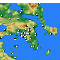 Nearby Forecast Locations - Nea Penteli - Map