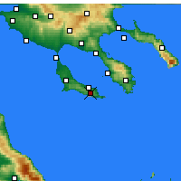 Nearby Forecast Locations - Pallini - Map