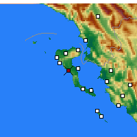 Nearby Forecast Locations - Parelioi - Map
