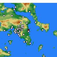 Nearby Forecast Locations - Rafina - Map