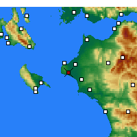 Nearby Forecast Locations - Vartholomio - Map