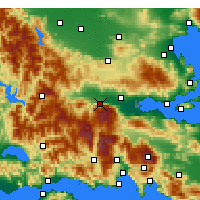 Nearby Forecast Locations - Ypati - Map